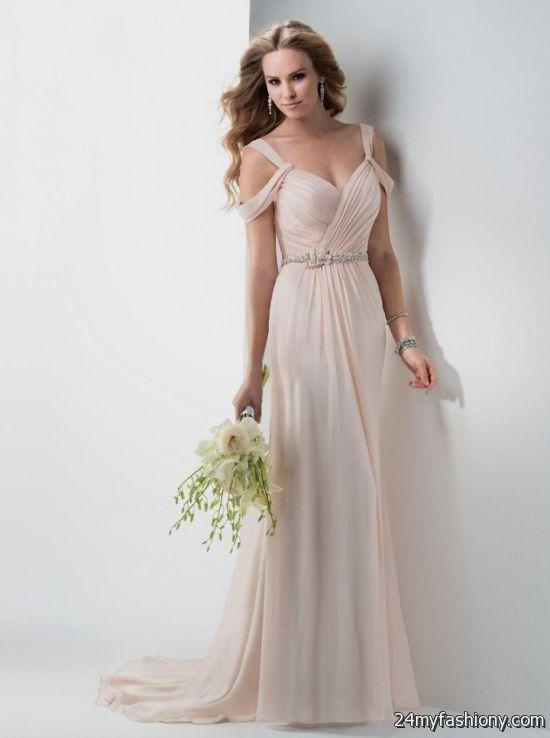 Light pink wedding dress simple 2016 2017 b2b fashion for Simple pink wedding dress