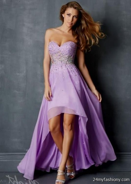 light purple high low prom dresses 2016-2017 | B2B Fashion