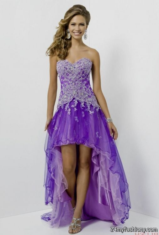 Light Purple High Low Prom Dresses - Discount Evening Dresses