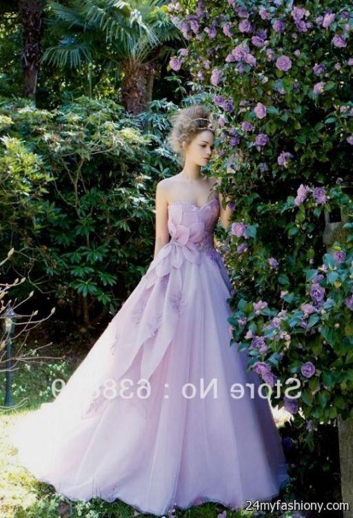 Light purple wedding dress