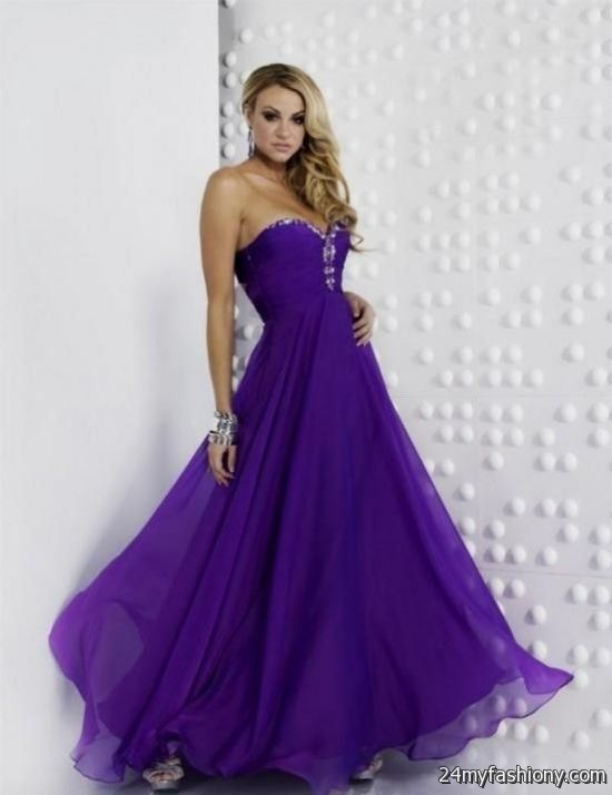 Purple Teen Graduation Dresses