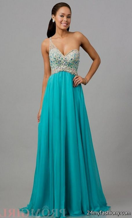 Teal Graduation Dresses