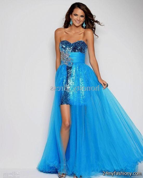 Light Blue High Low Prom Dress - Missy Dress