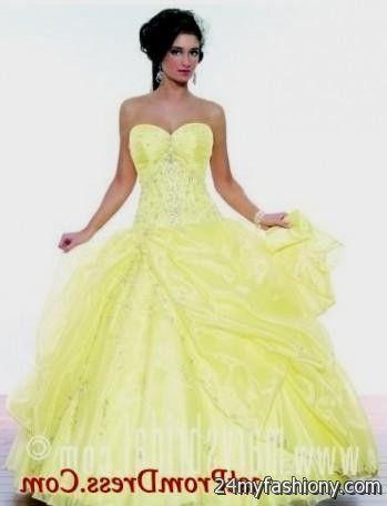 light yellow ball gown 2016-2017 » B2B Fashion
