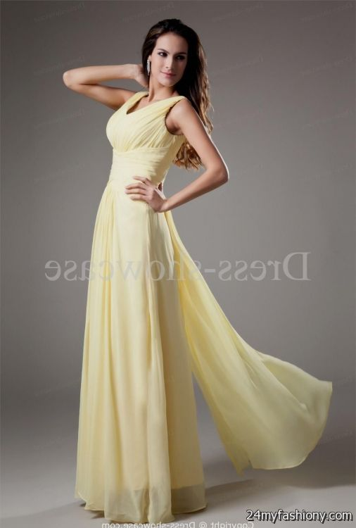 light yellow bridesmaid dresses with sleeves 2016-2017 ...