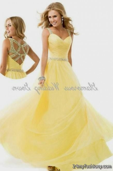 Yellow Prom Dress With Sleeves light yellow prom dres...