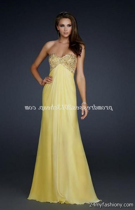 Collection Light Yellow Prom Dresses Pictures - Brida