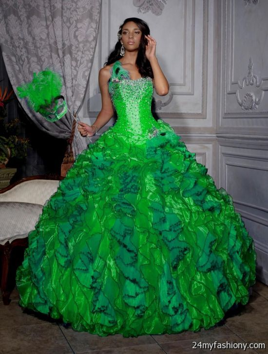 lime green and hot pink quinceanera dresses 2016-2017 ...