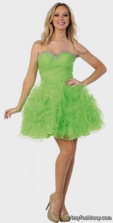 Lime Green Cocktail Dresses 2