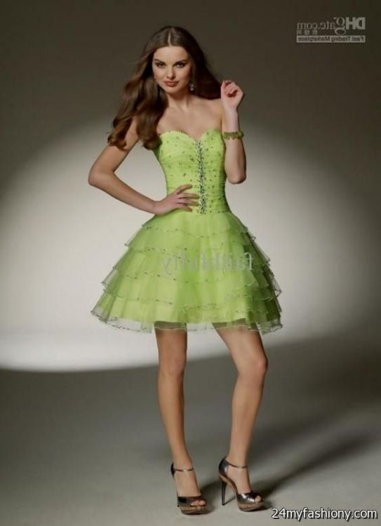 Lime Green Cocktail Dresses 106