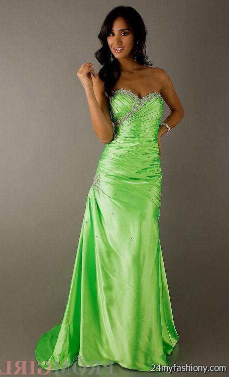 Lime Green Mermaid Prom Dress 2016 2017 B2b Fashion