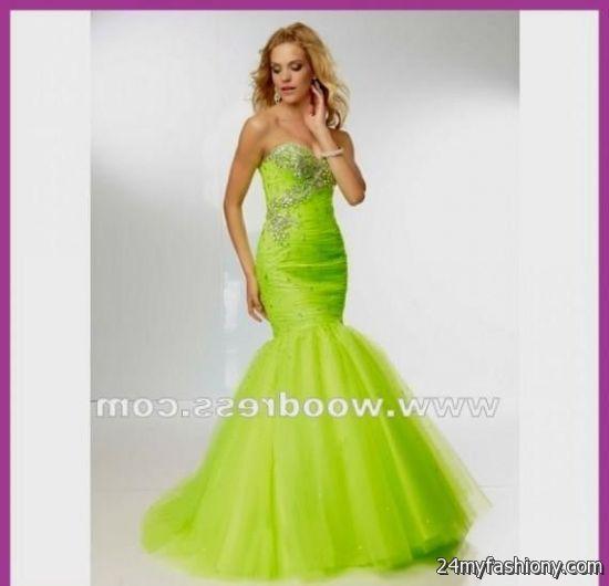 lime green mermaid prom dress 2016-2017 | B2B Fashion