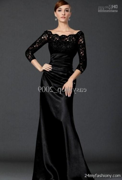 Long Black Bridesmaid Dresses With Sleeves Looks B2b Fashion