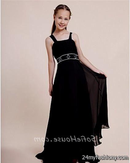 Tweens adolescence and mini black dresses