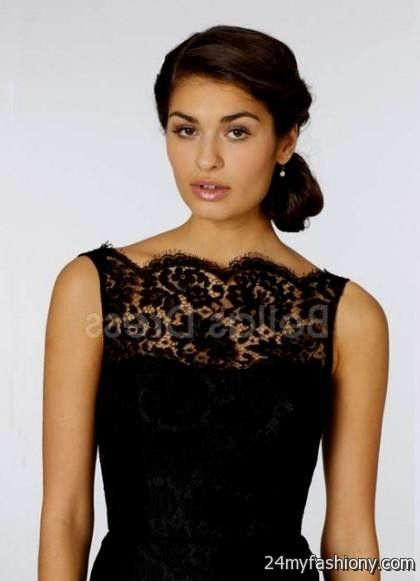 Black Long Lace Bridesmaid Dresses Picswe