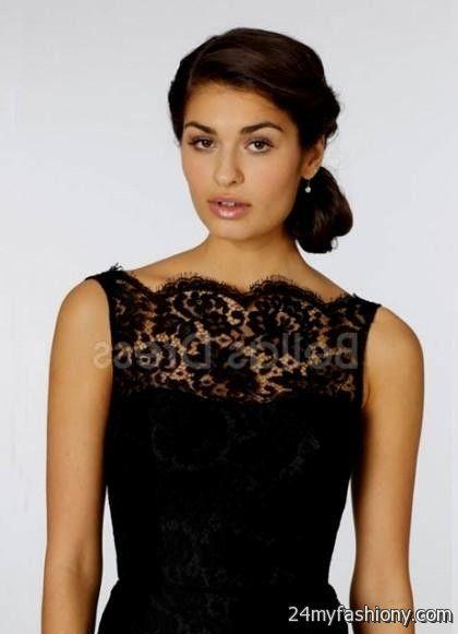 black bridesmaid dresses long