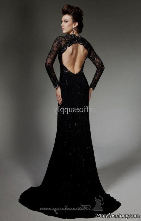 long black lace prom dresses 2016-2017   B2B Fashion