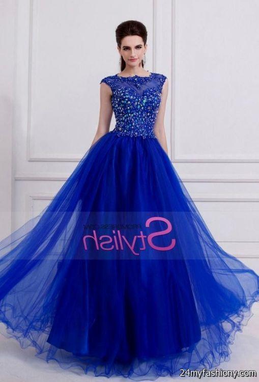 Long Blue Prom Dresses With Sleeves Looks B2b Fashion