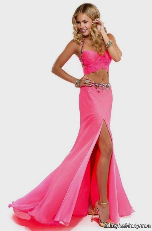 long hot pink prom dresses 20162017 b2b fashion