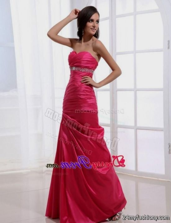 Long Hot Pink Prom Dresses 2017 - Plus Size Prom Dresses