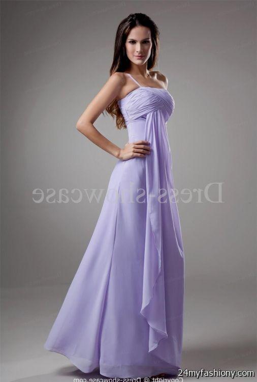 Long Lavender Bridesmaid Dress 2016 2017