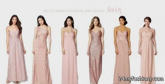 Long Light Pink Bridesmaid Dresses 2016 2017 B2b Fashion