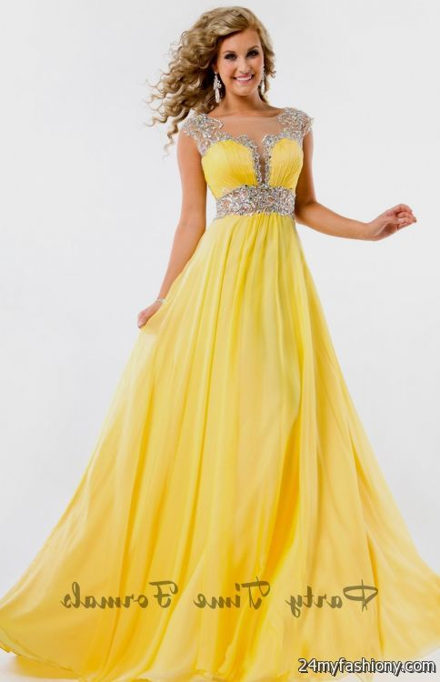 Yellow Jovani Prom Dresses 42