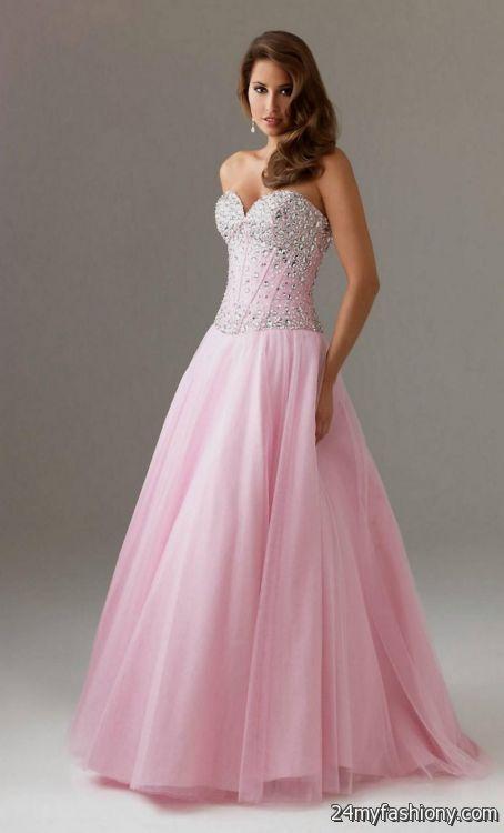 long pink strapless prom dress 2016-2017   B2B Fashion