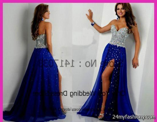 Blue Long Prom Dresses 2015