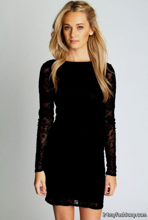 Long Sleeve Black Lace Dress Forever 21 Looks B2b Fashion