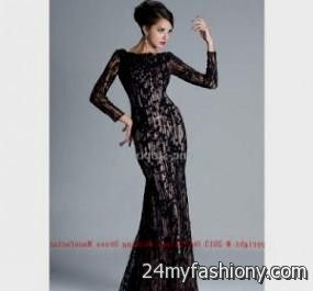long sleeve black lace prom dress 2016-2017 » B2B Fashion