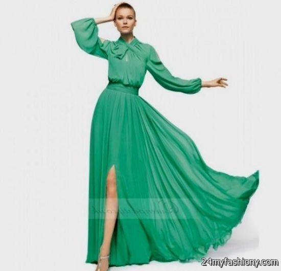 Long Sleeve Chiffon Dress Photo Album - Reikian