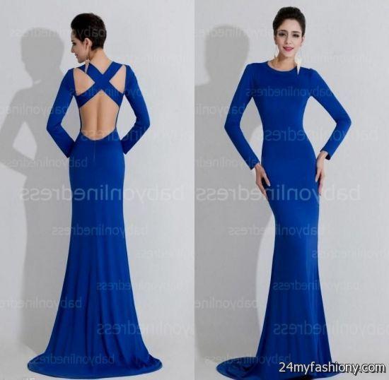 long sleeve royal blue prom dresses 2016-2017 » b2b fashion