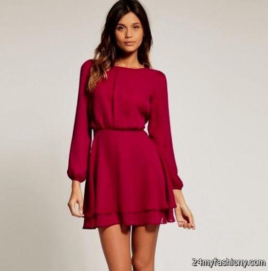 Long Sleeve Short Dresses for Teens