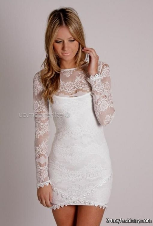 e944f22b71 long sleeve white cocktail dresses looks