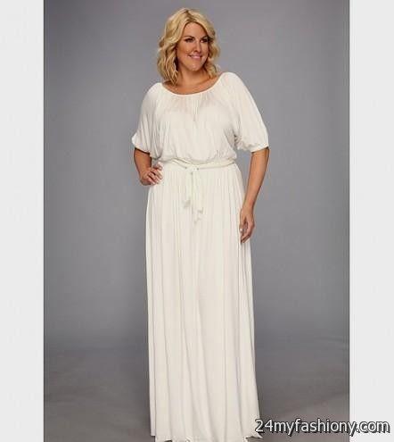 long sleeve white maxi dress plus size looks | B2B Fashion
