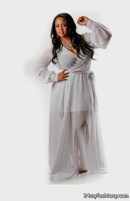 Long Sleeve White Maxi Dress Plus Size 2016 2017 B2b Fashion