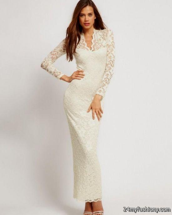 Long Sleeve White Maxi Dress Plus Size Looks
