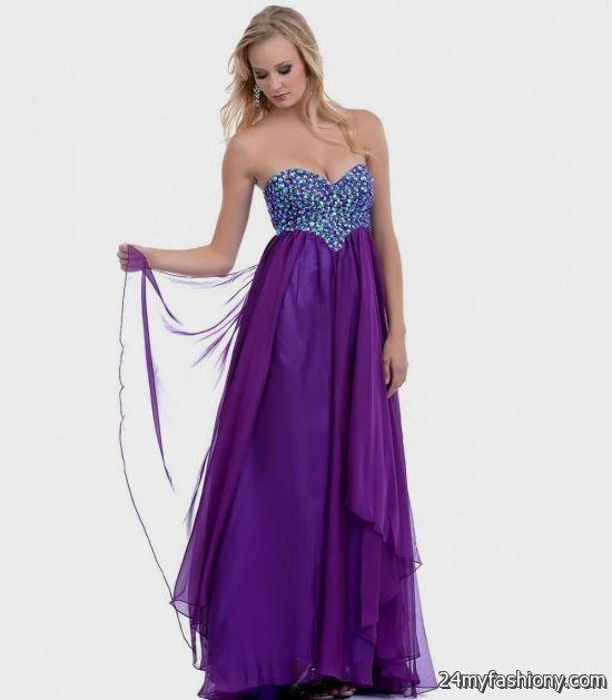 long strapless purple prom dresses 20162017 b2b fashion