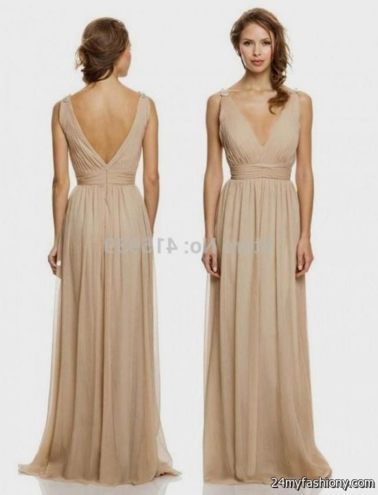 long tan lace bridesmaid dresses 2016-2017 » B2B Fashion