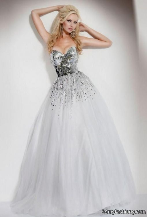 Prom Dresses White And Silver - Eligent Prom Dresses