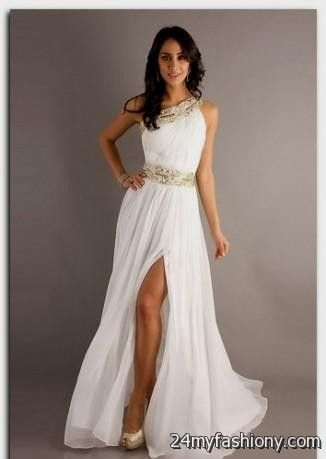 Long White Graduation Dress Grade 8th