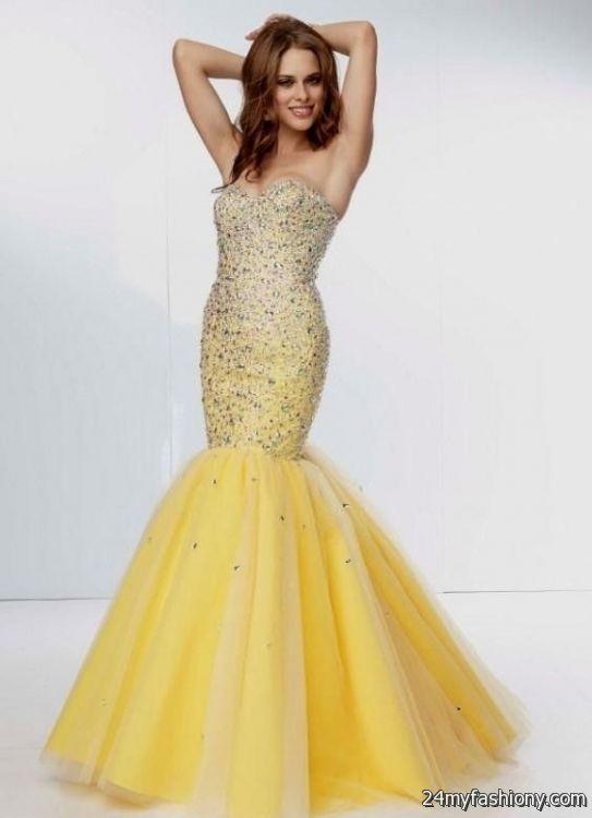 Long Yellow Mermaid Prom Dresses Looks B2b Fashion