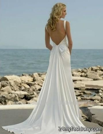 To acquire Low beach back wedding dresses picture trends