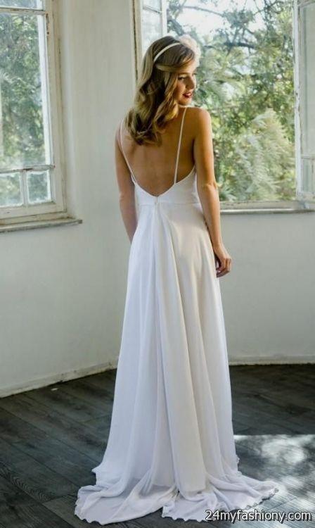 Beach Wedding Dresses 2017 : Low back beach wedding dresses b fashion