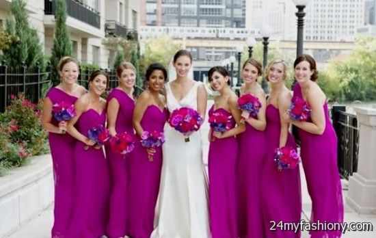 magenta bridesmaid dresses 2016-2017 | B2B Fashion