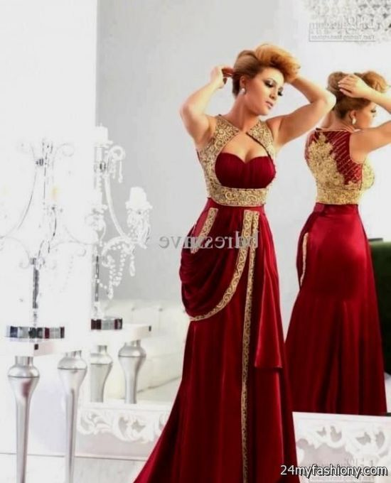 65ad49b408d Maroon and Gold Prom Dress looks