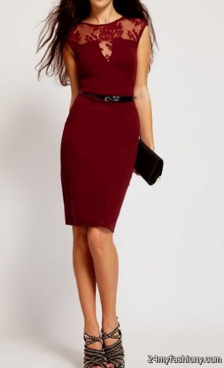 maroon cocktail dress 2016-2017 | B2B Fashion