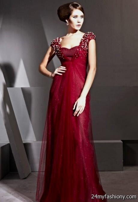 maroon evening gown 2016-2017 | B2B Fashion