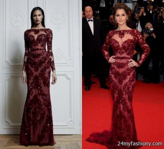Maroon Lace Prom Dress Looks B2b Fashion